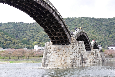 local landmark: Kintai Bridge in Iwakuni, Yamaguchi Prefecture, Japan