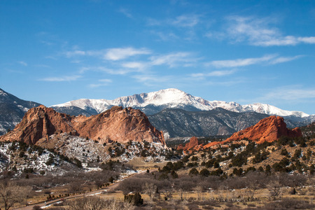rocky road: The Garden of the Gods Park, Colorado Springs, Colorado