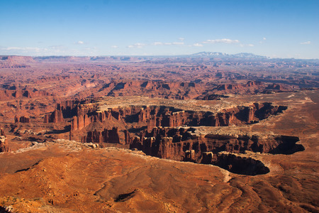 green river: Looking over the Green River from Island in the Sky, Canyonlands National Park, Utah, USA Stock Photo