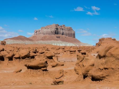 sedimentary: Sandstone hoodoos in Goblin Valley State park, Utah, USA