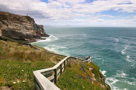 Cliffs on coastline, New Zealand photo