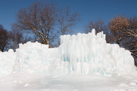 icily: Clear winter day in Minnesota, USA Stock Photo