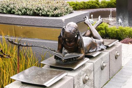 dyslexia: Reading Girl installation, Dyslexia Foundation, Christchurch, New Zealand