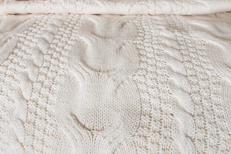 coverlet: White knitted linen