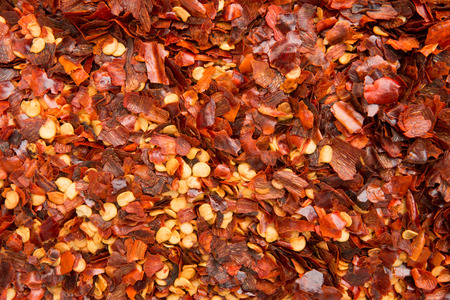 pepper flakes: Background of dried chili pepper flakes