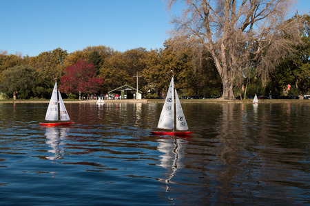 remote controlled: Competition of remote controlled model yachts Christchurch New Zealand Editorial