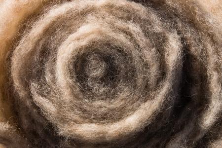 ovejas: Lavado y lana de oveja cardada listo para la hilatura Foto de archivo