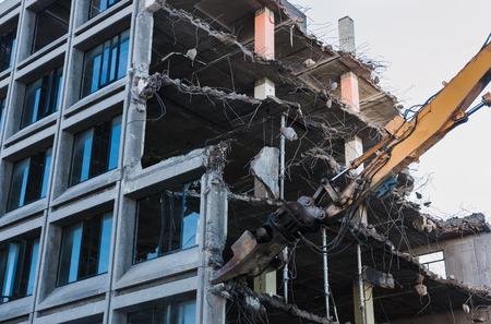 disruption: Demolishing of a building