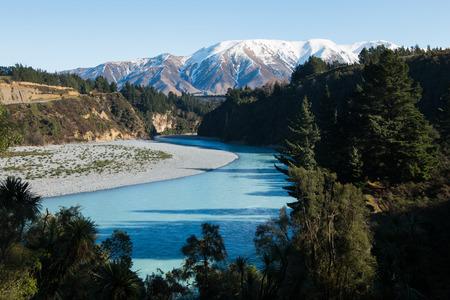 canterbury: Rakaia River at Rakaia Gorge, Canterbury, New Zealand