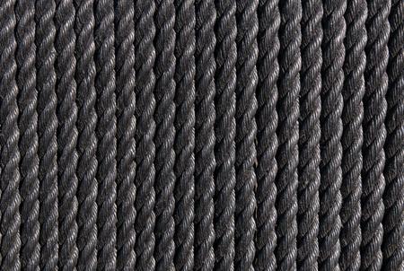 cordage: Background of black nautical cordage Stock Photo