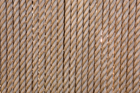 corded: Background of twisted nautical ropes