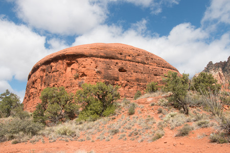 butte: Butte in Red Rock State Park, Arizona, USA Stock Photo