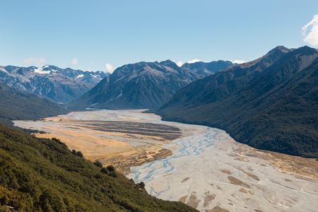 floodplain: Floodplain of Waimakariri River, Canterbury, New Zealand