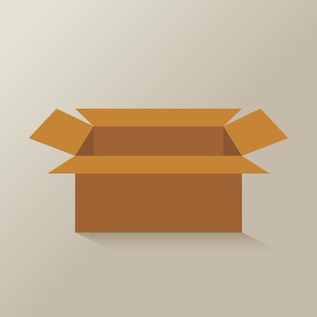brown paper: open brown paper  box vector