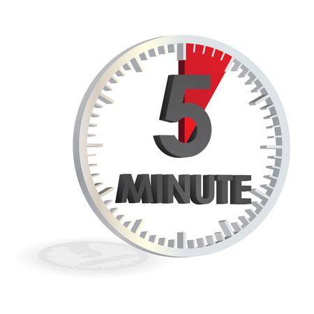 5 minutes white clock timer