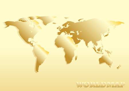 paper cut: paper cut world map golden abstract