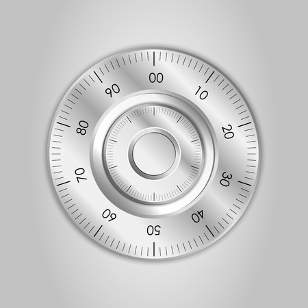 stainless: Isolated stainless steel safe lock vector Illustration