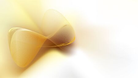 Abstract golden mesh  on white satin silk background with copy space for text. EPS10, vector and illustration. Çizim