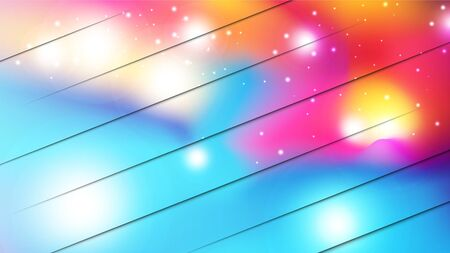 Abstract colorful watercolor and paper cut style background. EPS10, vector and illustration. Çizim
