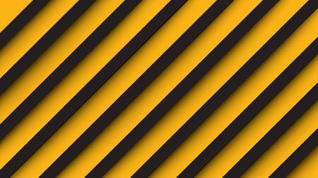 Abstract paper cut style pattern, yellow and black. EPS10, vector, illustration. Ratio 1920x1080 px.