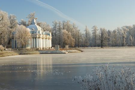 tsarskoye: The Grotto pavilion in the city Pushkin (Tsarskoye Selo)