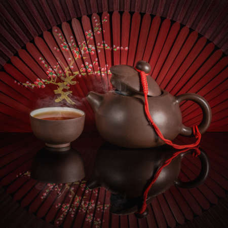 chinese tea ceremony: teapot and cups for the Chinese tea ceremony