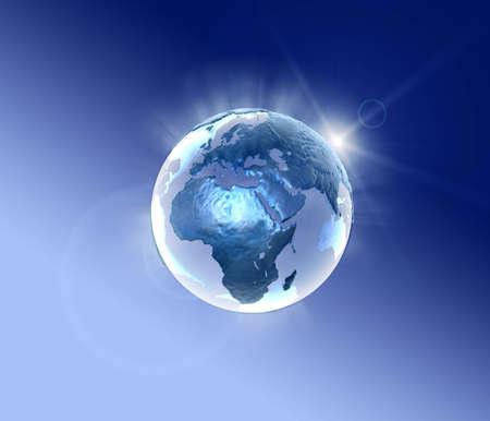 3d world lightning in a metallic style Stock Photo - 1676348
