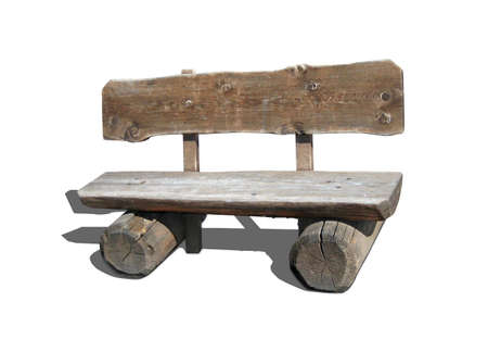settle back: A wooden banch to sit and relax or waiting