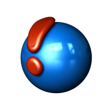 Symbol Ball as Icon with reflection in a comic style Stock Photo - 2073948