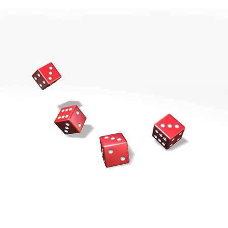 revoltijo: Para mezclar y juega a los dados con cuatro cubos rojos