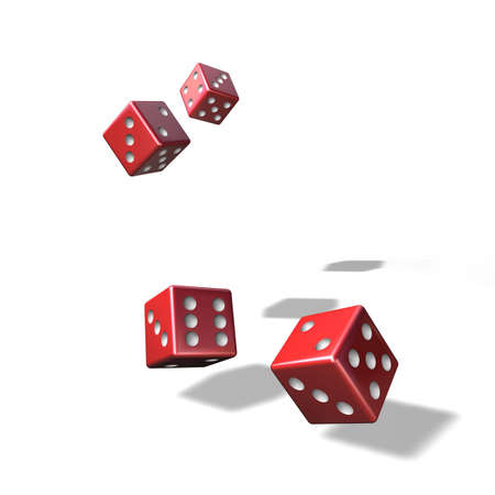 jumble: To jumble and to play dice with four red cubes