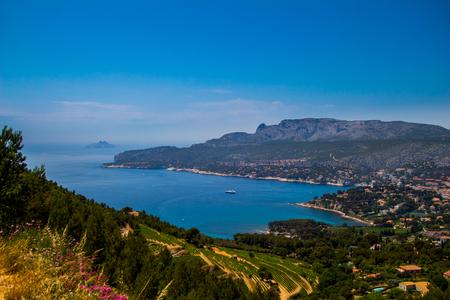View over Coastline of Cote dAzur