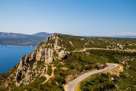 tropez: View of Mountains in Southern France Stock Photo