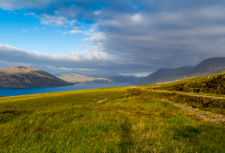 Beautiful View over Lake in the Scottish Highlands