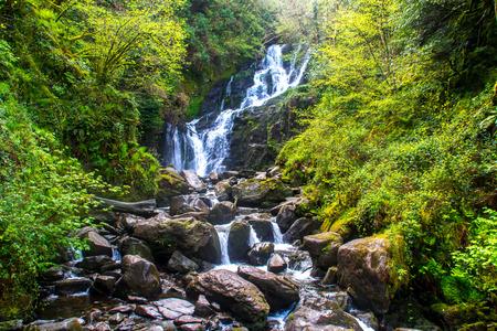irish countryside: Waterfall in Irish countryside