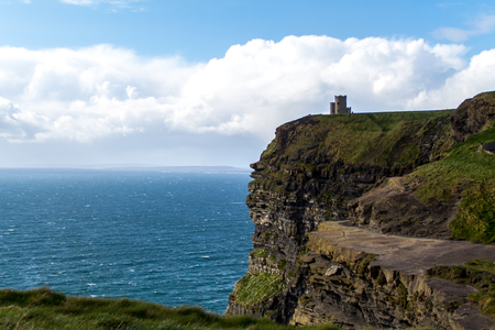 Castle at the Cliffs of Moher