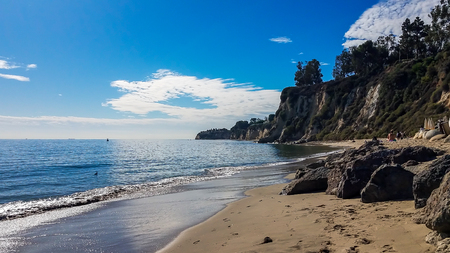 Nice beach in a beautiful cove in Malibi, Los Angeles