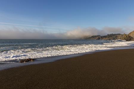 Black Sands Beach North Of San Francisco Marin Headlands Stock