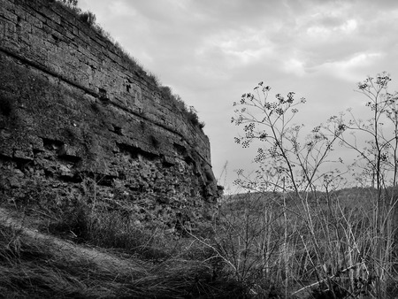 fortify: The ruins of the old Turkish fortress Arabat. Ukraine. Crimea.