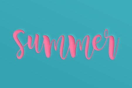Banner de venta de verano con papel cortado. diseño de banner, flyer, invitación, cartel, sitio web o tarjeta de felicitación. Estilo de corte de papel.