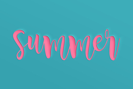 Summer sale banner with paper cut. design for banner, flyer, invitation, poster, website or greeting card. Paper cut style.