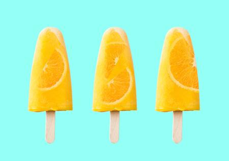 Tasty and refreshing orange ice cream Stockfoto