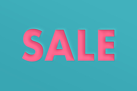 Summer sale banner with paper cut.
