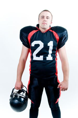 American football player, studio isolated  photo