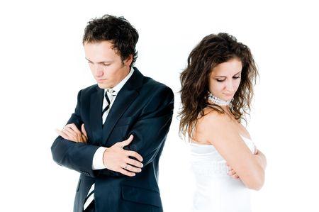 Difficolt� di rapporto tra marito e moglie Archivio Fotografico