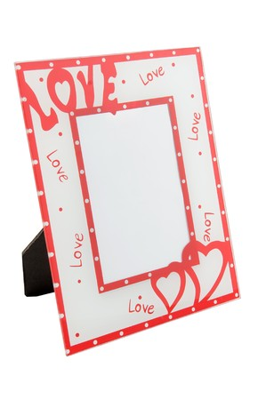 Photo frame with hearts for Valentine�s Day  photo