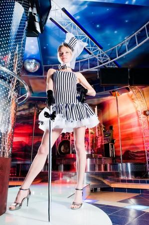 showgirl: Sexy showgirl in the club