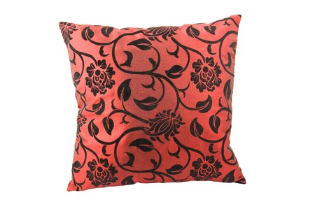 Red decorative pillow isolated on white background Stock Photo - 4306232