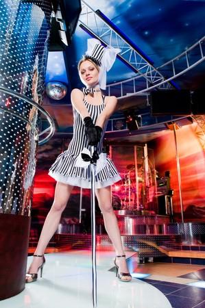 Sexy showgirl nel club Archivio Fotografico