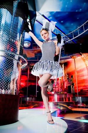 Sexy showgirl dancing, motion blur Stock Photo - 4367938